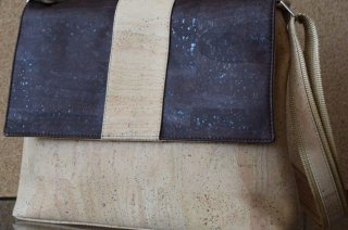 Parafa női táska - Keresztpántos táska (krém és barna)