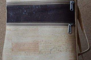 Parafa női táska - Keresztpános táska két cipzárral (sötétkék)