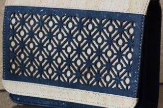 Parafa női táska - Keresztpántos táska mintával (fekete és bézs)